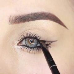 نحوه کشیدن خط چشم با مداد چشم